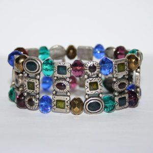 Vintage silver and colorful bracelet